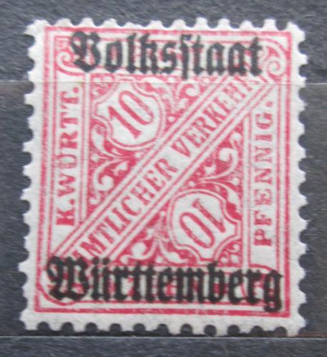 Poštovní známka Württembersko 1919 Nominální hodnota, úøední Mi# 262