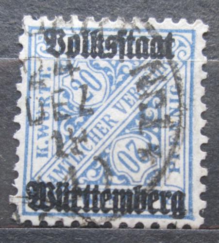 Poštovní známka Württembersko 1919 Nominální hodnota, úøední Mi# 264