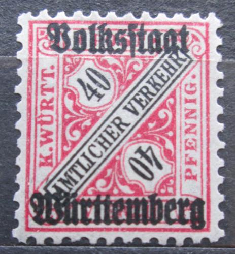 Poštovní známka Württembersko 1919 Nominální hodnota, úøední Mi# 268
