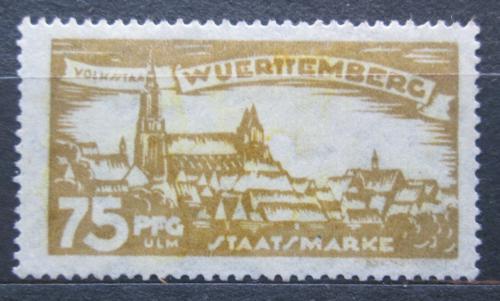 Poštovní známka Württembersko 1920 Ulm, úøední Mi# 275