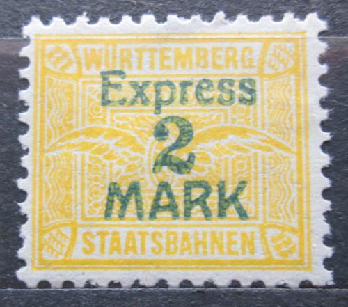 Poštovní známka Württembersko 1917 Státní dráhy express Mi# N/N