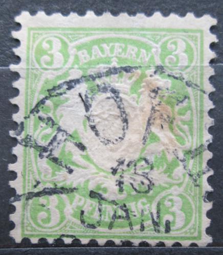 Poštovní známka Bavorsko 1881 Státní znak Mi# 47