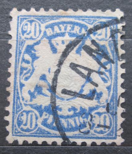 Poštovní známka Bavorsko 1881 Státní znak Mi# 50