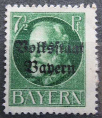 Poštovní známka Bavorsko 1919 Král Ludvík III. pøetisk Mi# 118 II A
