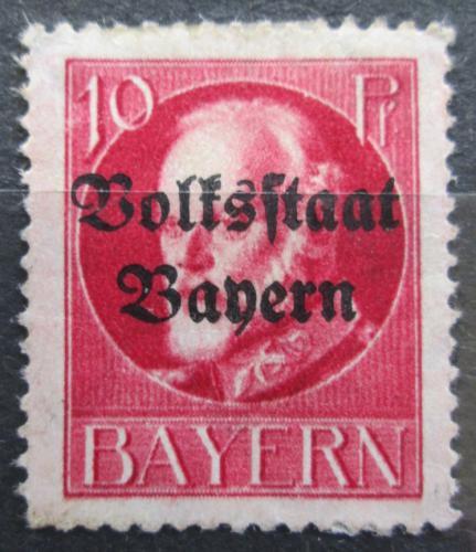 Poštovní známka Bavorsko 1919 Král Ludvík III. pøetisk Mi# 119 II A