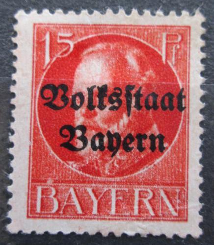 Poštovní známka Bavorsko 1919 Král Ludvík III. pøetisk Mi# 120 II A