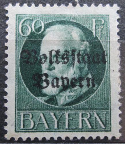 Poštovní známka Bavorsko 1919 Král Ludvík III. pøetisk Mi# 126 II A