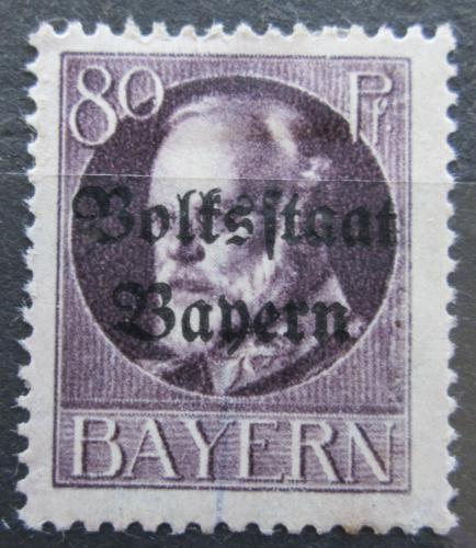 Poštovní známka Bavorsko 1919 Král Ludvík III. pøetisk Mi# 127 II A