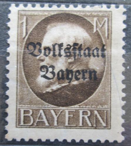Poštovní známka Bavorsko 1919 Král Ludvík III. pøetisk Mi# 128 II A