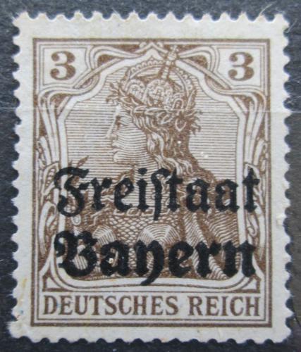 Poštovní známka Bavorsko 1919 Germania pøetisk Mi# 137