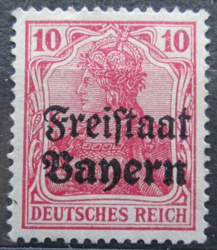 Poštovní známka Bavorsko 1919 Germania pøetisk Mi# 140