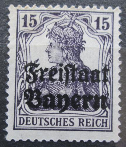 Poštovní známka Bavorsko 1919 Germania pøetisk Mi# 141