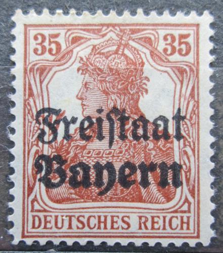 Poštovní známka Bavorsko 1919 Germania pøetisk Mi# 144