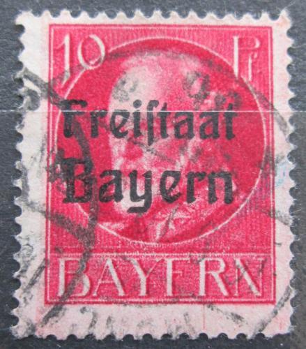 Poštovní známka Bavorsko 1919 Král Ludvík III. pøetisk Mi# 155 A Kat 3.20€