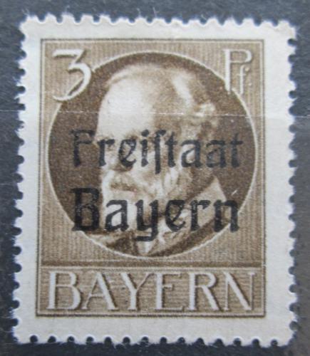 Poštovní známka Bavorsko 1919 Král Ludvík III. pøetisk Mi# 152 A