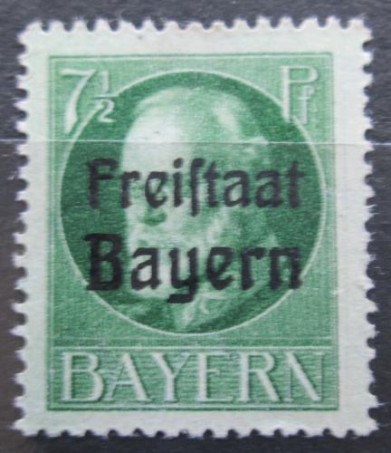 Poštovní známka Bavorsko 1919 Král Ludvík III. pøetisk Mi# 154 A
