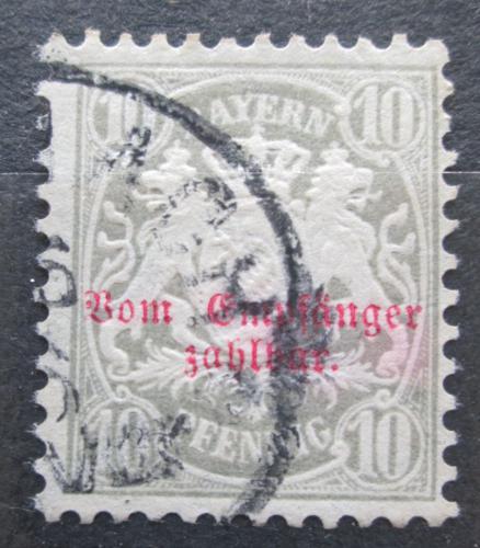 Poštovní známka Bavorsko 1882 Státní znak, doplatní Mi# 9