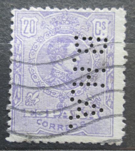 Poštovní známka Španìlsko 1920 Král Alfons XIII. perfin Mi# 245