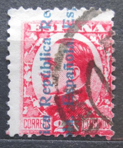 Poštovní známka Španìlsko 1931 Král Alfons XIII. pøetisk Mi# 576