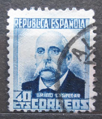 Poštovní známka Španìlsko 1932 Emilio Castelar, spisovatel Mi# 624 II A