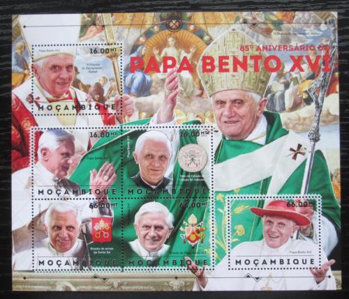 Poštovní známky Mosambik 2012 Papež Benedikt Mi# 6132-37 Kat 14€
