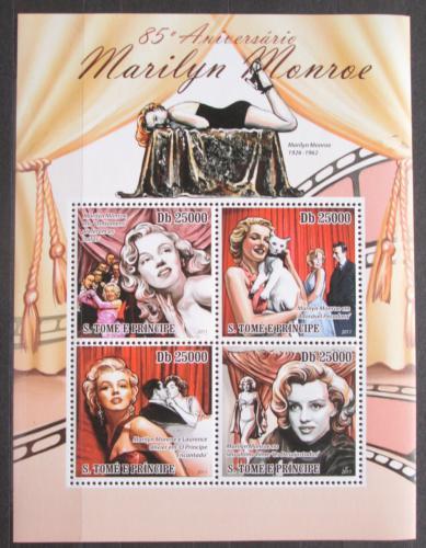 Poštovní známky Svatý Tomáš 2011 Marilyn Monroe Mi# 4876-79 Kat 10€
