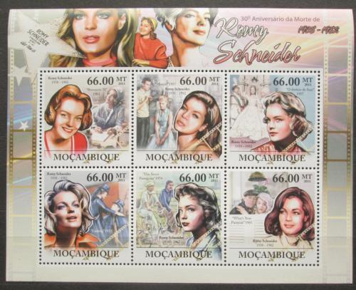 Poštovní známky Mosambik 2011 Romy Schneider, hereèka Mi# 5421-26 Kat 23€