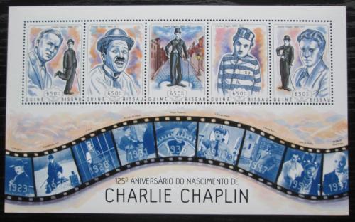 Poštovní známky Guinea-Bissau 2014 Charlie Chaplin Mi# 7046-50 Kat 13€