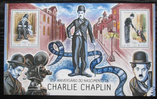 Poštovní známky Guinea-Bissau 2014 Charlie Chaplin Mi# Block 1236 Kat 8.50€