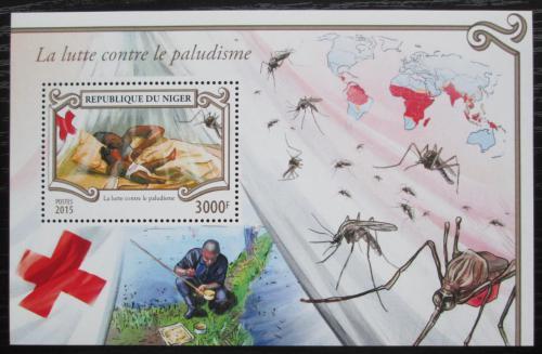 Poštovní známky Niger 2015 Boj proti malárii Mi# Block 463 Kat 12€