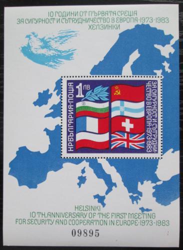 Poštovní známka Bulharsko 1982 Konference o bezpeènosti Mi# Block 129 Kat 12€