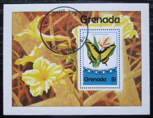 Poštovní známka Grenada 1975 Motýli Mi# Block 47