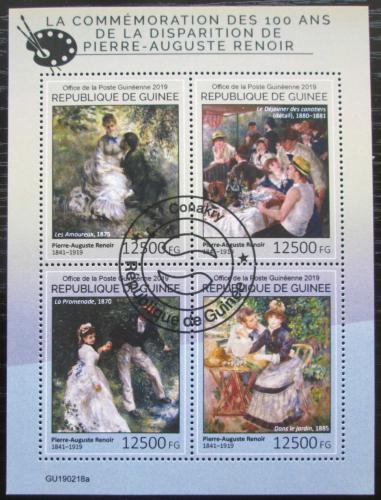 Poštovní známky Guinea 2019 Umìní, Renoir Mi# N/N