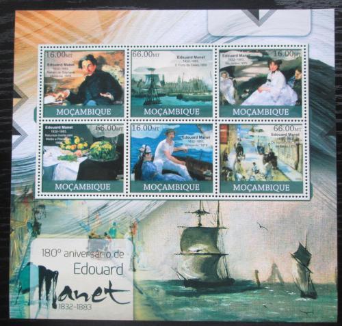Poštovní známky Mosambik 2012 Umìní, Édouard Manet Mi# 5874-79 Kat 14€