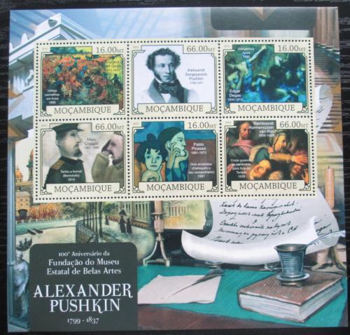 Poštovní známky Mosambik 2012 A. S. Puškin, spisovatel Mi# 6021-26 Kat 14€