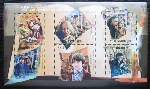 Poštovní známky Mosambik 2012 Charles Dickens, spisovatel Mi# A 5511-5511 Kat 14€