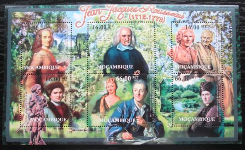 Poštovní známky Mosambik 2012 Jean-Jacques Rousseau Mi# 5470-75 Kat 14€