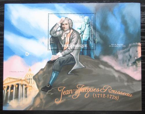 Poštovní známka Mosambik 2012 Jean-Jacques Rousseau Mi# Block 585 Kat 10€