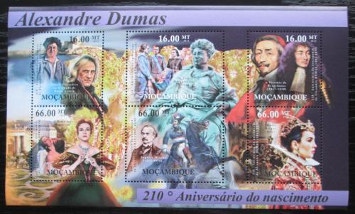 Poštovní známky Mosambik 2012 Alexander Dumas, spisovatel Mi# 5498-5503 Kat 14€