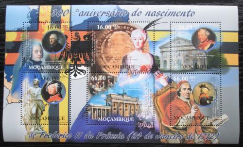 Poštovní známky Mosambik 2012 Fridrich II. Veliký Mi# 5477-82 Kat 14€