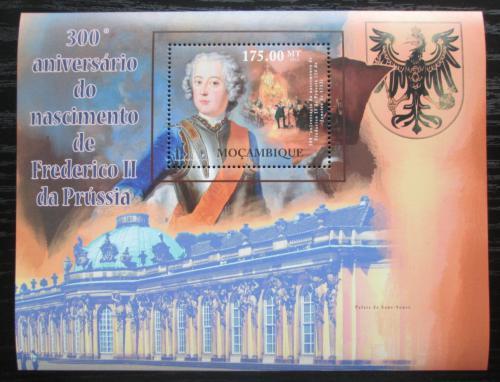 Poštovní známka Mosambik 2012 Fridrich II. Veliký Mi# Block 586 Kat 10€