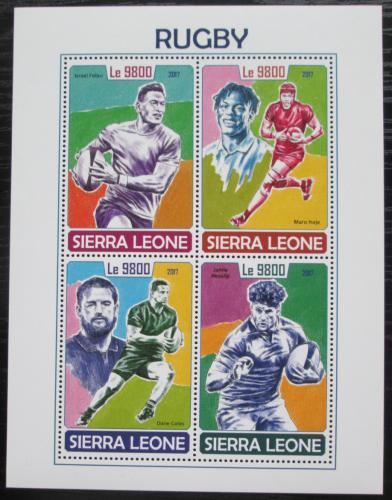 Poštovní známky Sierra Leone 2017 Rugby Mi# 8970-73 Kat 11€