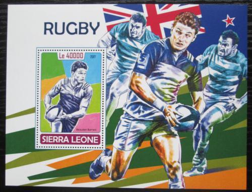 Poštovní známka Sierra Leone 2017 Rugby Mi# Block 1323 Kat 11€
