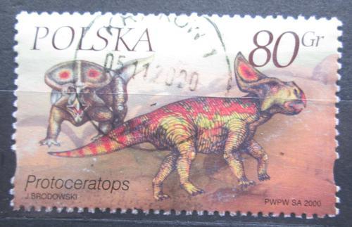 Poštovní známka Polsko 2000 Protoceratops Mi# 3814