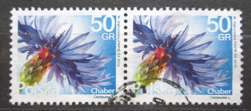 Poštovní známky Polsko 2016 Chrpa polní pár Mi# 4816