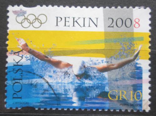Poštovní známka Polsko 2008 LOH Peking, plavání Mi# 4368