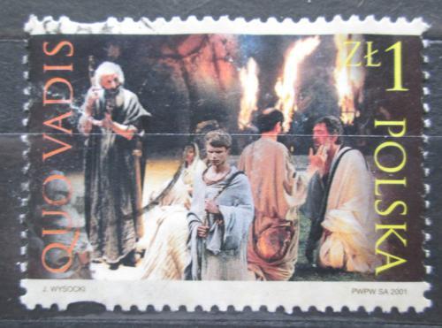 Poštovní známka Polsko 2001 Scéna z filmu Quo vadis Mi# N/N