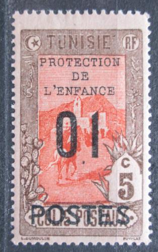 Poštovní známka Tunisko 1925 Doruèování pošty pøetisk Mi# 110