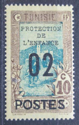 Poštovní známka Tunisko 1925 Doruèování pošty pøetisk Mi# 111