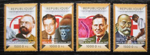 Poštovní známky Guinea 2015 Boj proti malárii Mi# 10987-90 Kat 20€